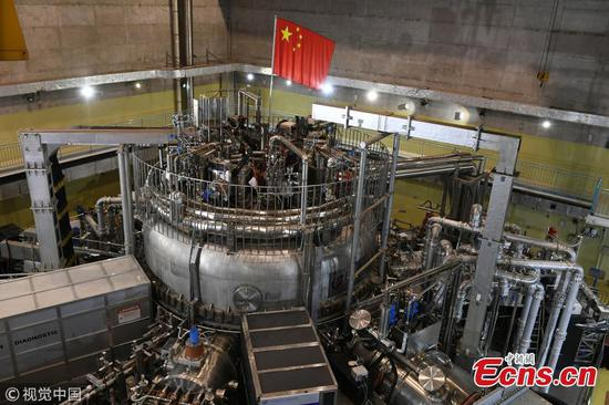 China's 'artificial sun' achieves temperature of 100 million degrees
