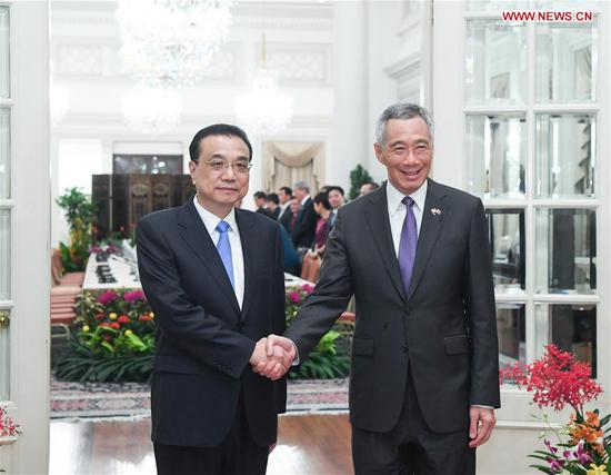 China, Singapore to deepen cooperation on free trade, regional stability