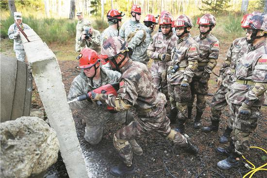 Chinese, U.S. militaries hold disaster management exchange