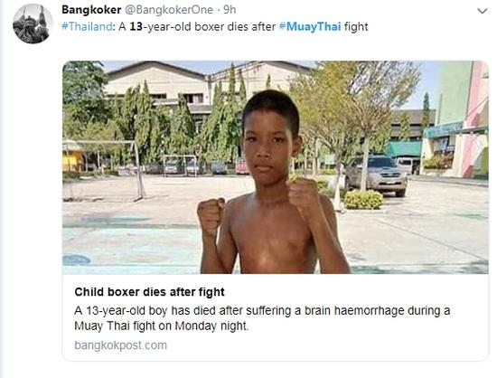 Death of Thai boy inflames debate on Muay Thai's young dreamers