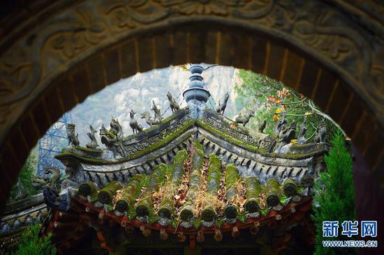 Autumn scenes at the Shaolin Temple