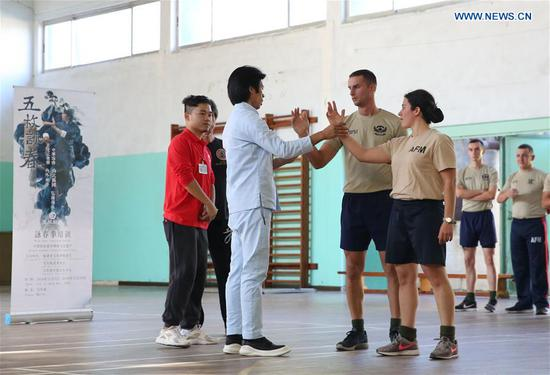 Soldiers of Armed Forces of Malta learn Chinese martial arts