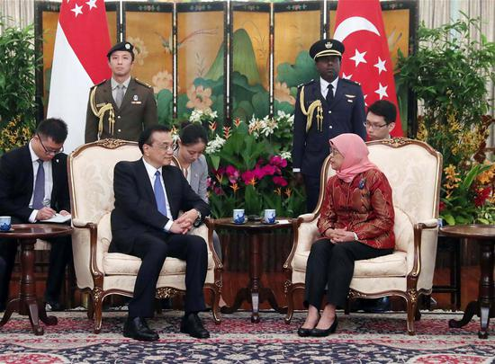 China, Singapore to promote bilateral ties, China-ASEAN relations