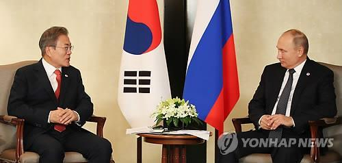 ROK President Moon asks Russian President Putin to ease sanctions on DPRK