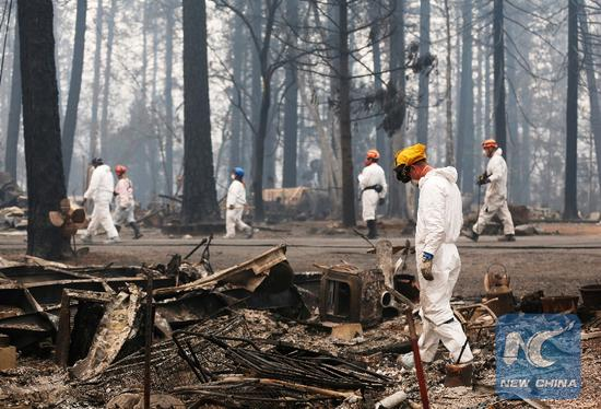 Sheriff says 63 killed, over 600 missing in Northern California's wildfire