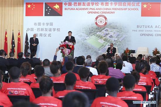 Xi, O'Neill unveil PNG, China friendship school