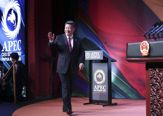 Xi calls for inclusive, rule-based world economy at APEC meeting