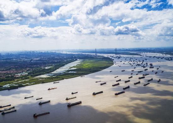 The Wuhan section of the Yangtze River. (Photo/Xinhua)