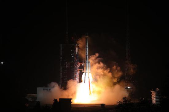 Twin Beidou satellites launched
