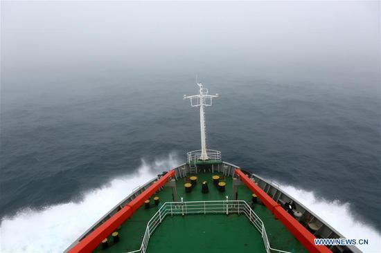 China's icebreaker Xuelong crosses stormy westerlies enroute to Antarctic