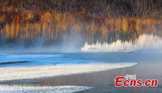 'Coldest town in China' braves lowest temperature this winter