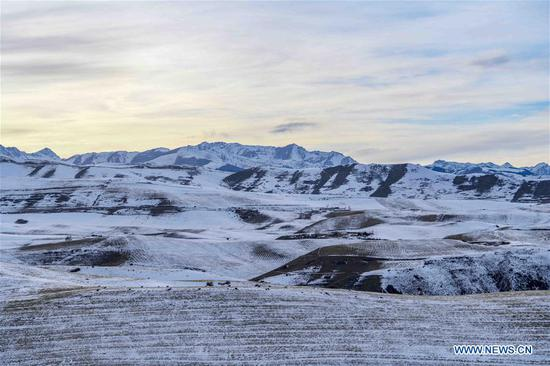 Snow scenery in China's Xinjiang
