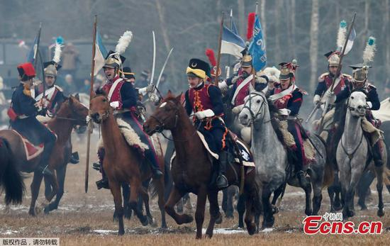 Reenactment of the 1812 Battle of Berezina