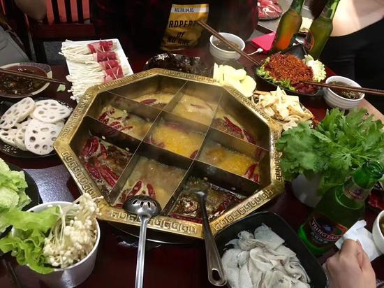 Hero Hot-Pot, most popular and authentic Chinese Chongqing hot-pot in Madrid.  (CGTN Photo)