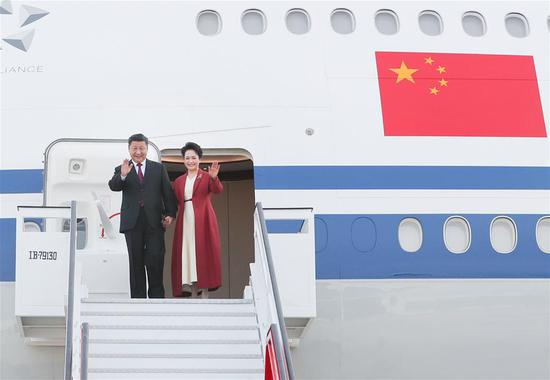 Xi arrives in Spain for state visit