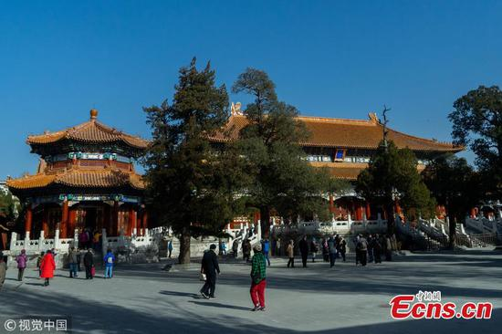 Shouhuang Palace in Jingshan Park opens to public