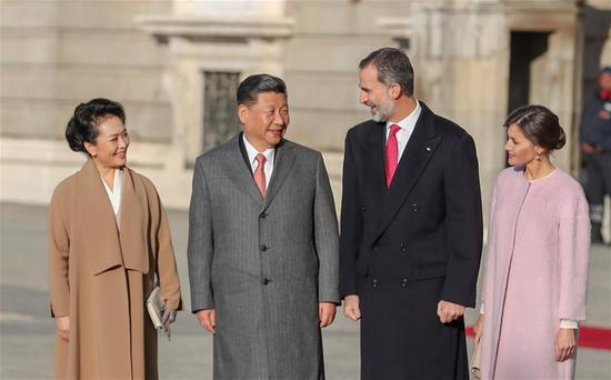 China, Spain agree to advance ties
