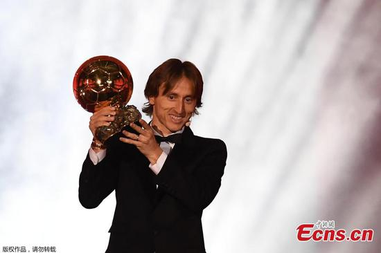 Luka Modric wins men's Ballon d'Or
