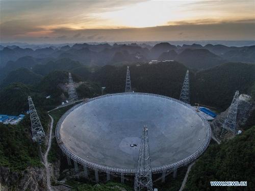 Photo taken on June 27, 2016 shows the Five-hundred-meter Aperture Spherical Telescope, or