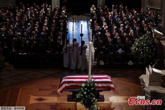 In laughter and tears, U.S. holds state funeral for 41st President George H.W. Bush