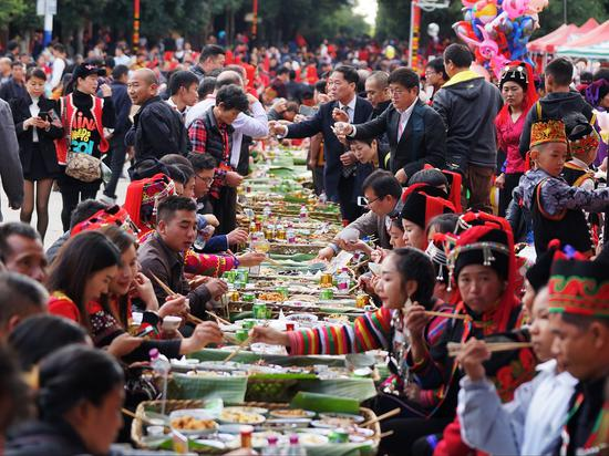 Hani people in Yunnan celebrate new year