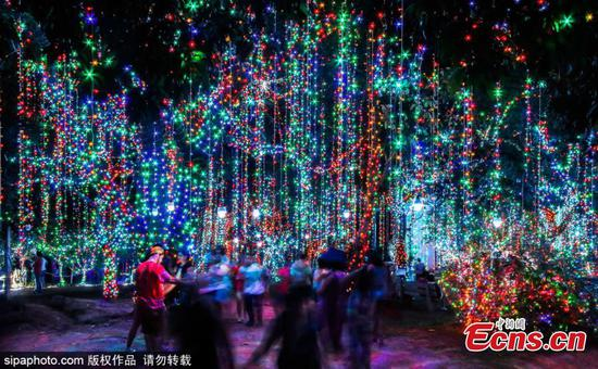 The 'largest' private Christmas theme park lights up Brazilian city