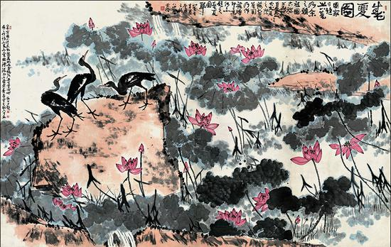 Beijing exhibition commemorates ink art pioneer Li Kuchan