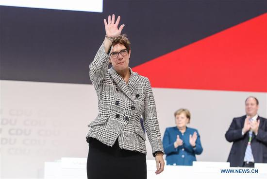 Kramp-Karrenbauer succeeds Merkel as German CDU's new leader