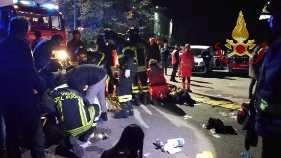 At least 6 die in nightclub stampede in central Italy