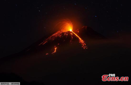 Photo shows new volcanic eruption from Mount Etna's crater