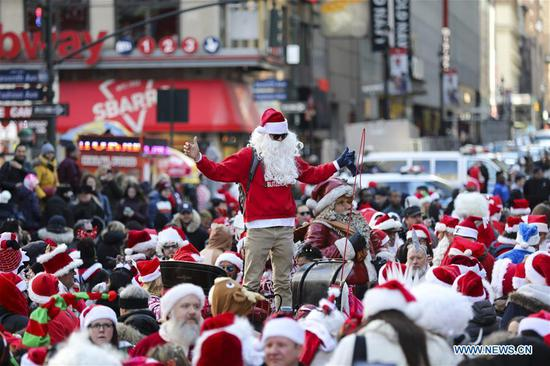 2018 SantaCon held in New York
