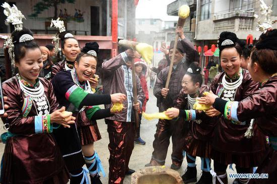 族在西南中国庆祝新年