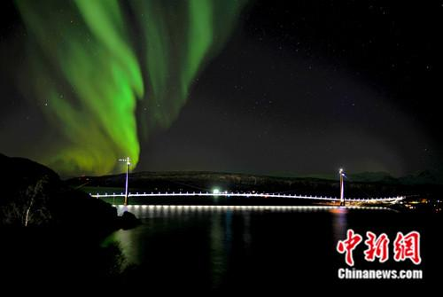 Halogaland Bridge in northern Norway opens to traffic on Dec. 9, 2018. (Photo/China News Service)