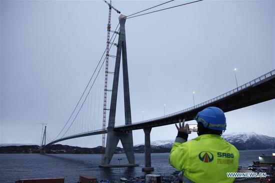挪威由中国公司建造的第二大桥梁通车