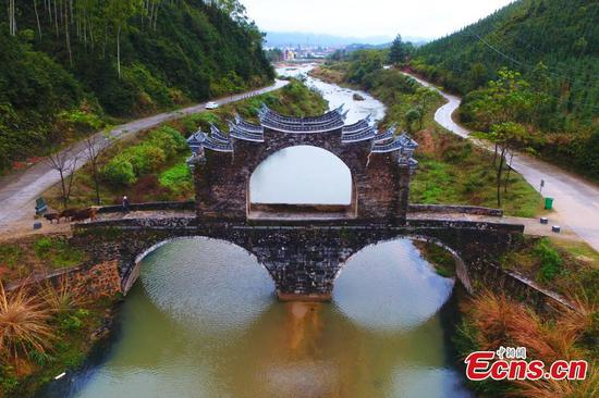 Rare stone bridge under protection in Jiangxi