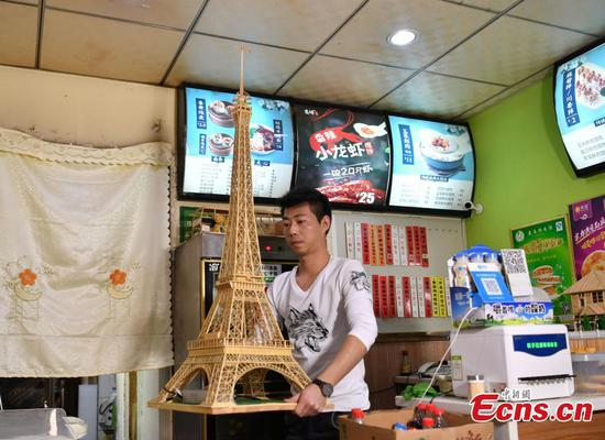 Wonton restaurant owner obsessed with bamboo skewers craft