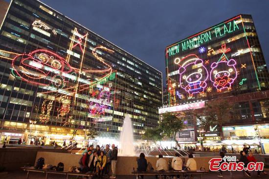 香港准备圣诞节庆祝活动