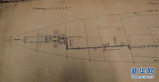 Original designs for warship Zhiyuan found in Newcastle archives