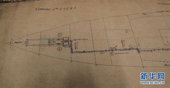 纽卡斯尔档案中发现了志远军舰的原始设计