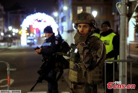 法国史特拉斯堡枪击案死亡人数上升至4