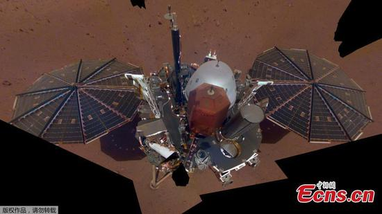 NASA's InSight takes first selfie from surface of Mars