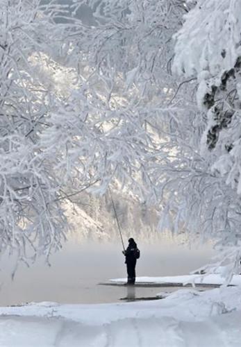 Frozen beauty of the Siberian River