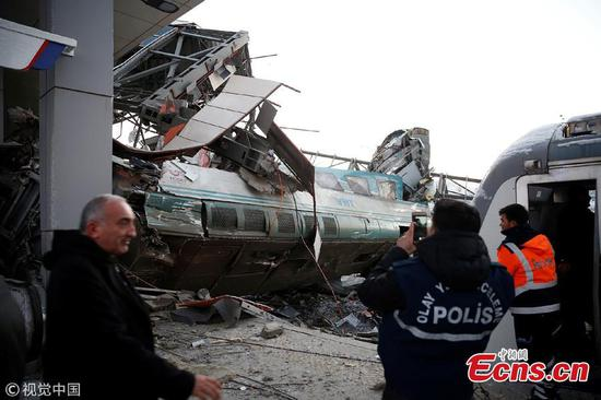 Four killed, more than 40 injured as high speed train collides with locomotive in Ankara