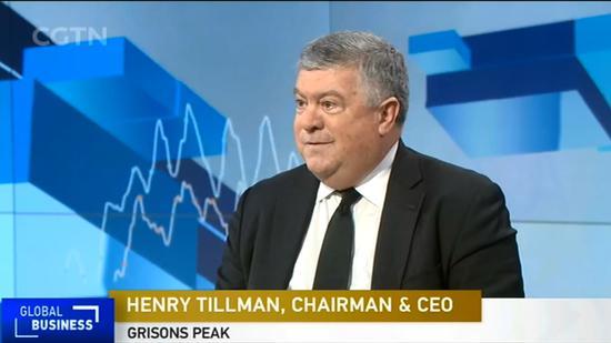 Henry Tillman, chairman and CEO of Grisons Peak. / CGTN Screenshot