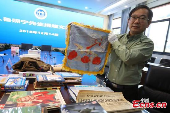 Chinese-American donates WWII materials to Nanjing memorial hall