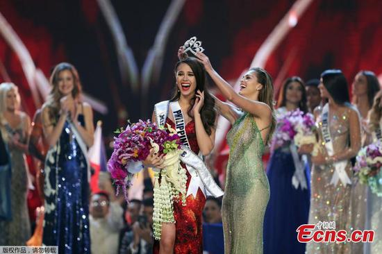 Philippines contestant Catriona Gray named Miss Universe