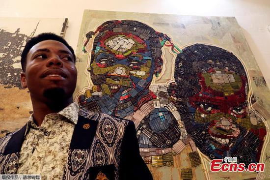 Ivory Coast painter gives new life to e-waste