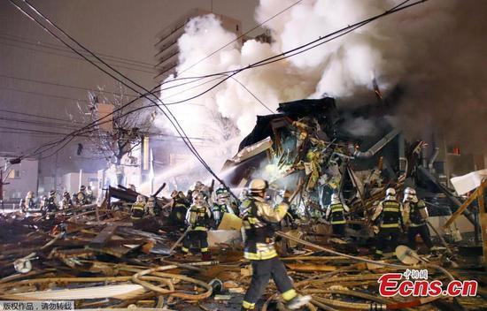 札幌饭店爆炸中数十人受伤