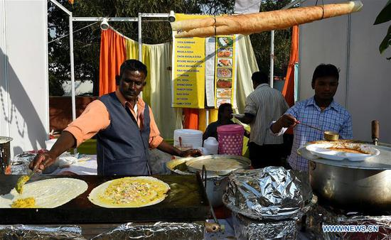 Street food festival held in New Delhi, India