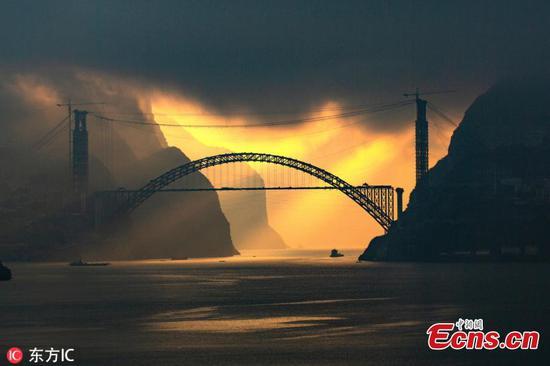 长江的壮丽景色